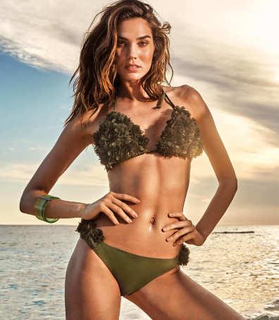 9d146d2f0b316 Купальник бикини зеленый с цветами Vacanze Italiane VI9-014 bra